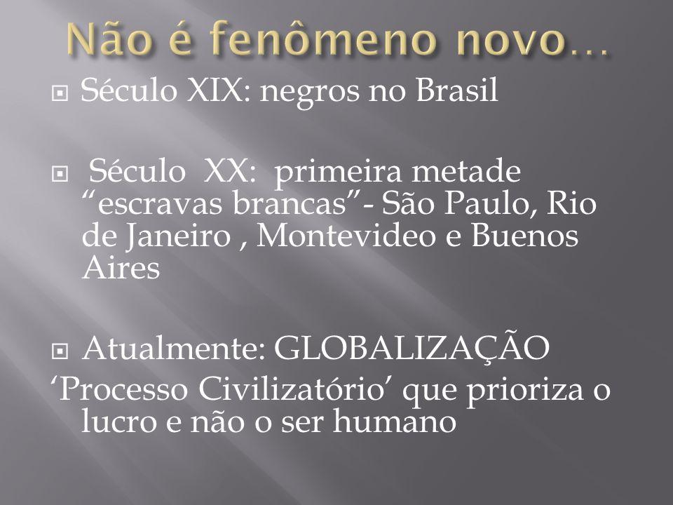 Não é fenômeno novo… Século XIX: negros no Brasil