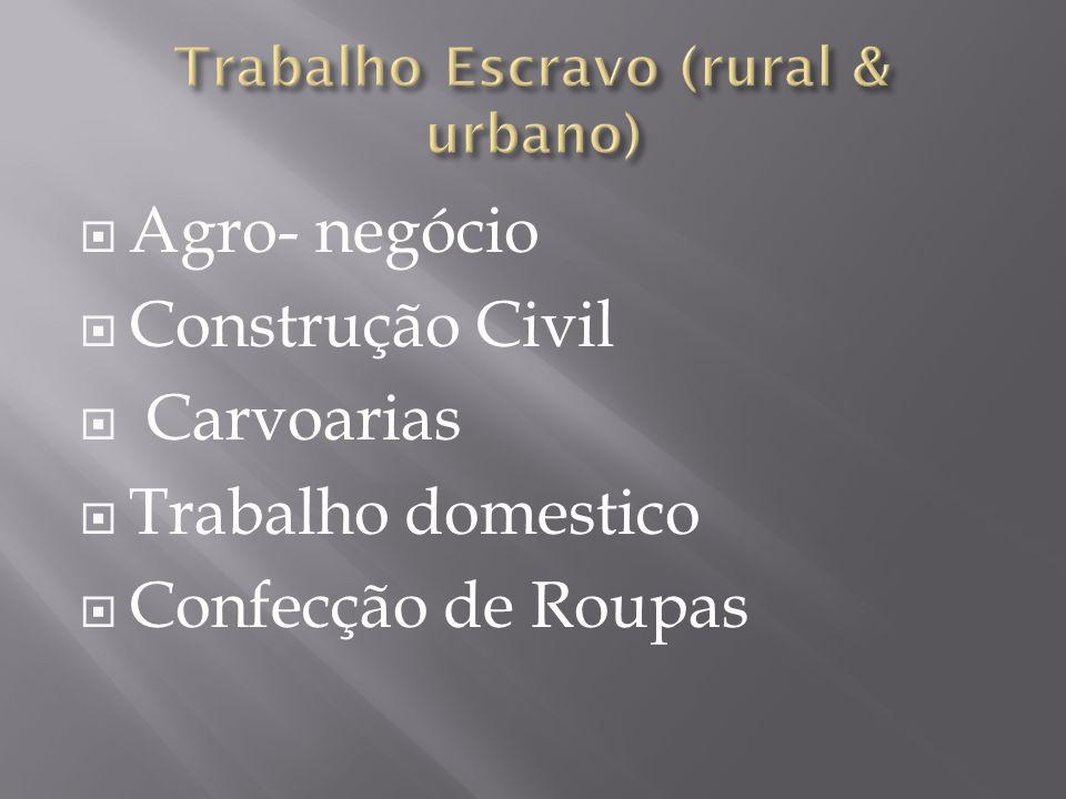 Trabalho Escravo (rural & urbano)