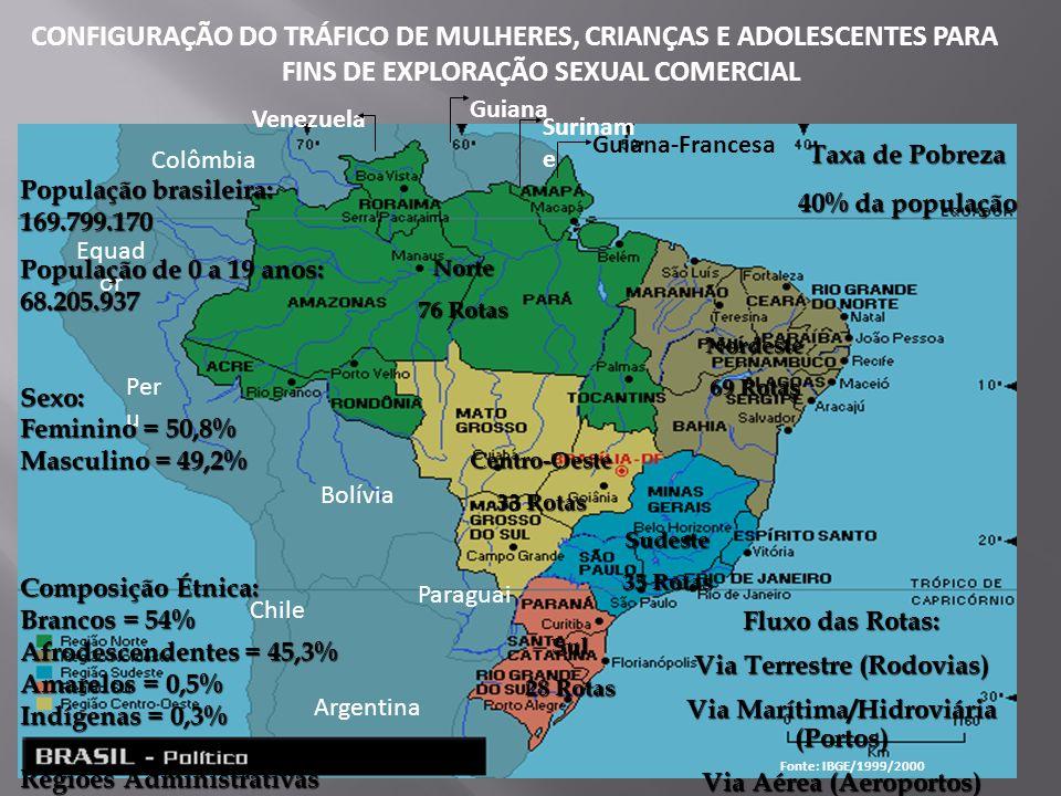 CONFIGURAÇÃO DO TRÁFICO DE MULHERES, CRIANÇAS E ADOLESCENTES PARA FINS DE EXPLORAÇÃO SEXUAL COMERCIAL