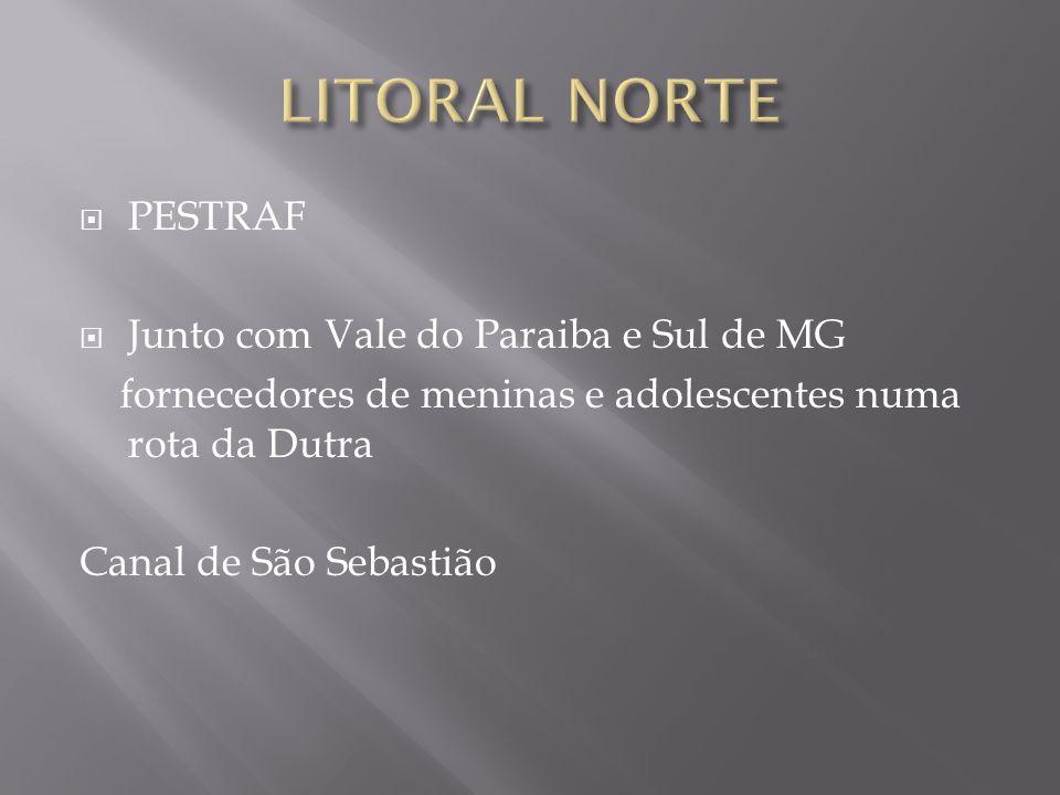 LITORAL NORTE PESTRAF Junto com Vale do Paraiba e Sul de MG