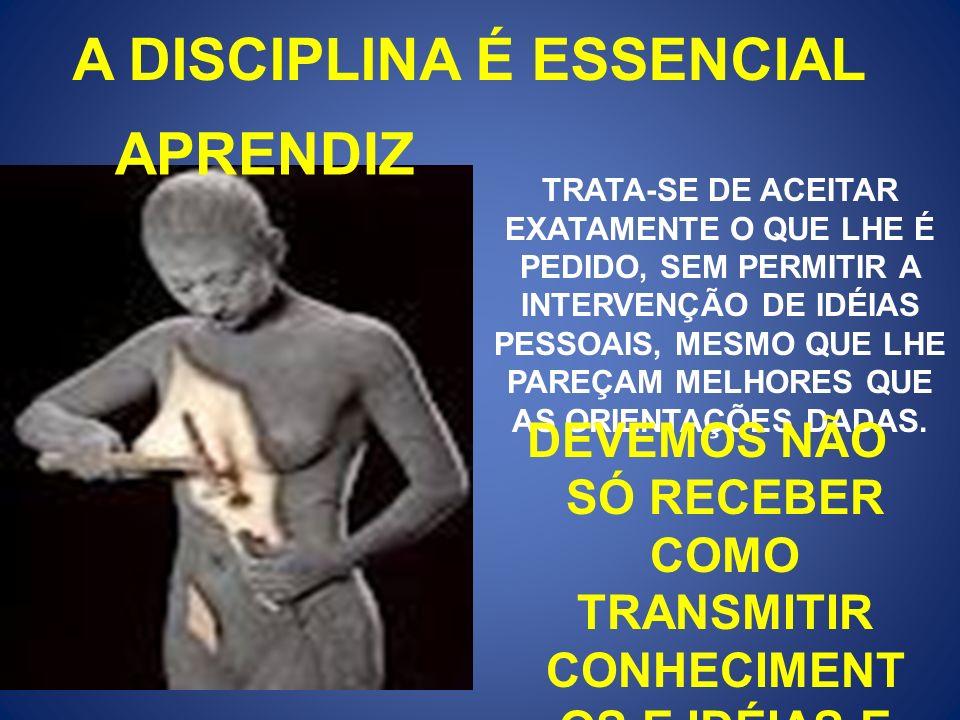 A DISCIPLINA É ESSENCIAL