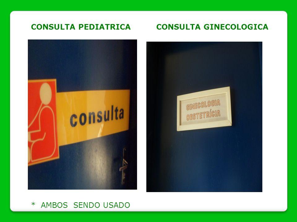 CONSULTA PEDIATRICA CONSULTA GINECOLOGICA * AMBOS SENDO USADO