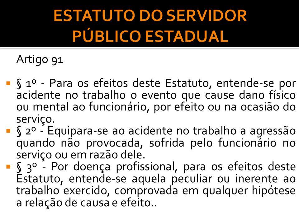 ESTATUTO DO SERVIDOR PÚBLICO ESTADUAL