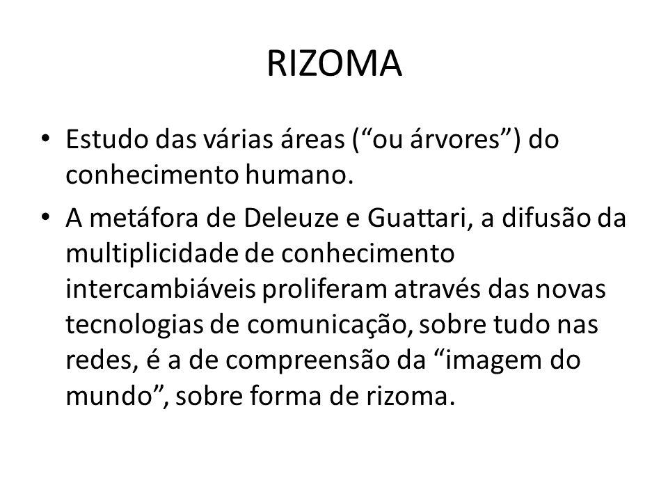 RIZOMA Estudo das várias áreas ( ou árvores ) do conhecimento humano.