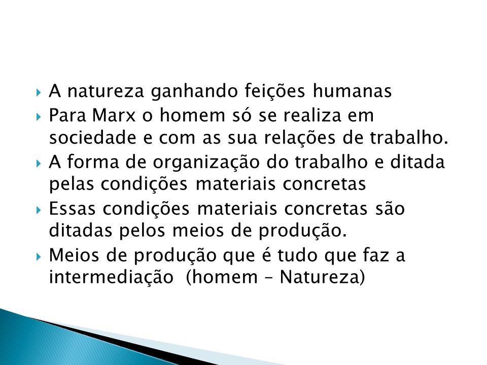 A natureza ganhando feições humanas