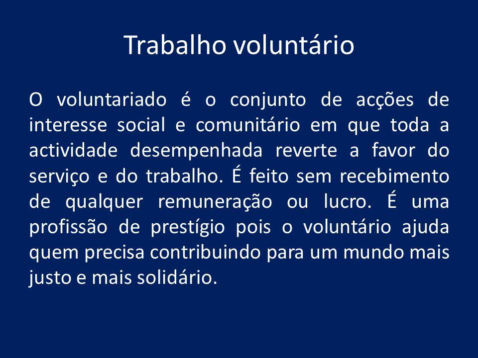 Trabalho voluntário