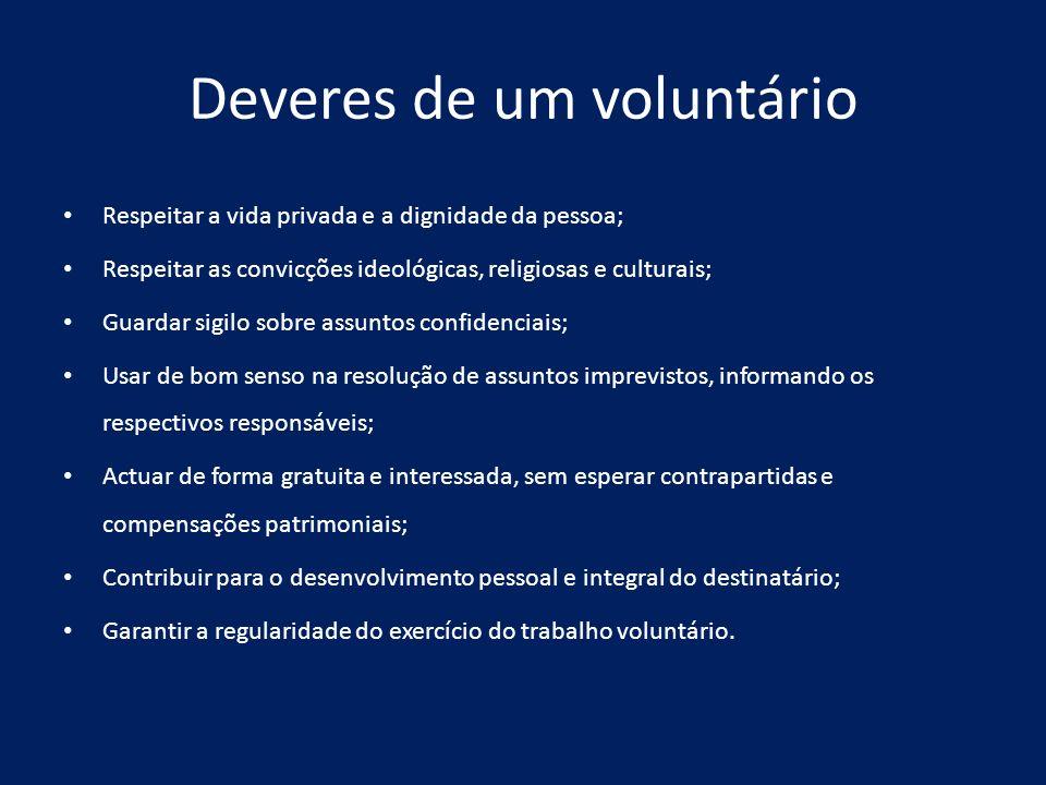 Deveres de um voluntário