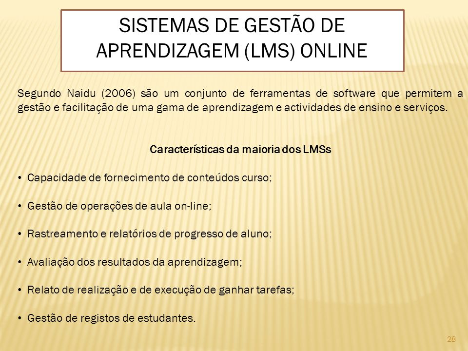 Sistemas de Gestão de Aprendizagem (LMS) Online