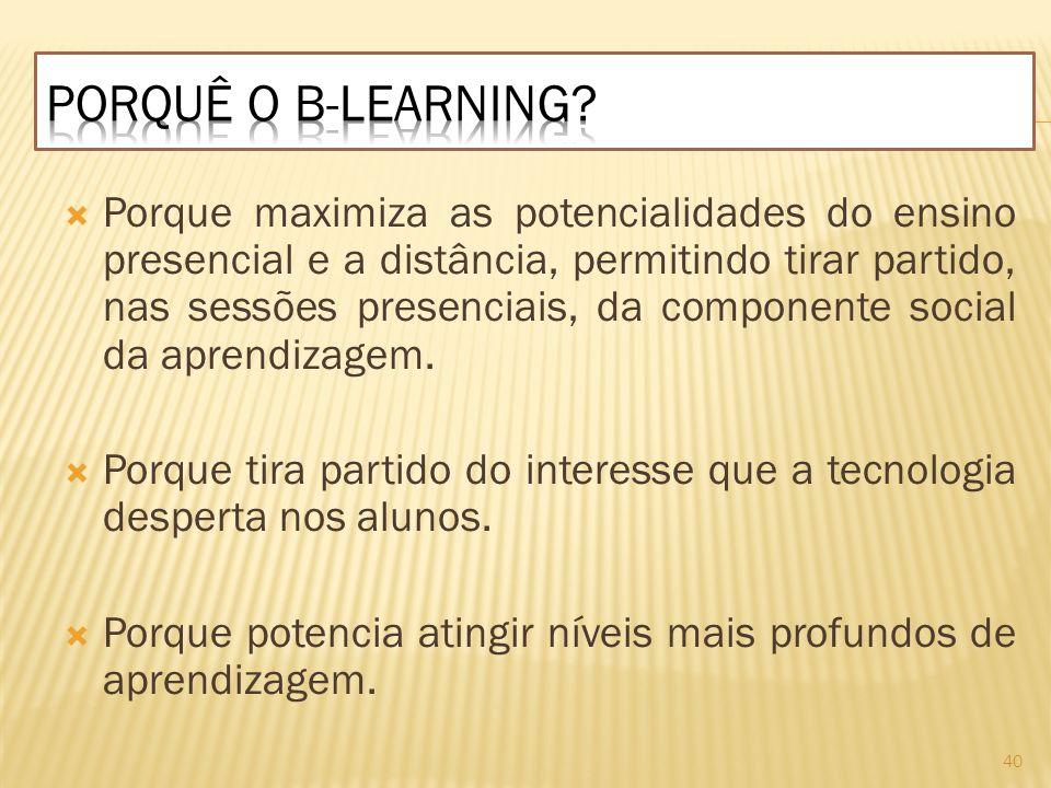 Porquê o b-learning