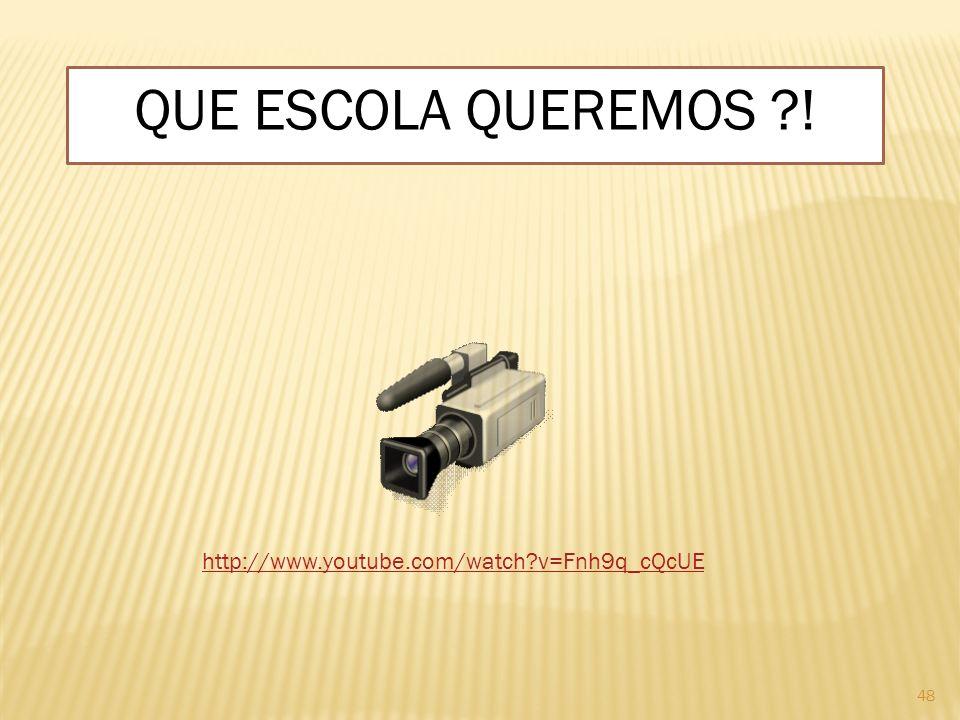 QUE ESCOLA QUEREMOS ! http://www.youtube.com/watch v=Fnh9q_cQcUE