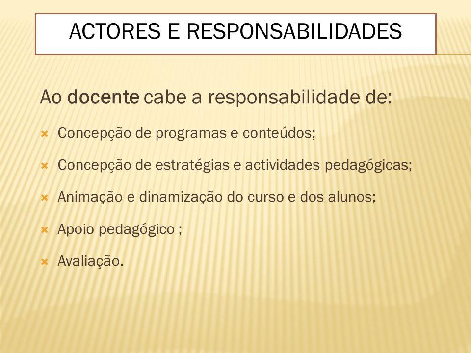 ACTORES E RESPONSABILIDADES