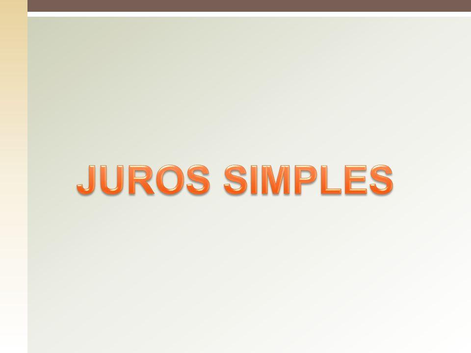 JUROS SIMPLES