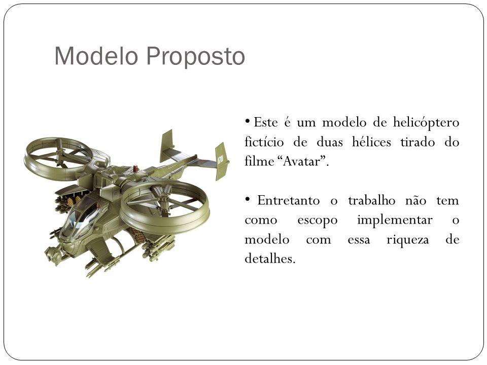 Modelo Proposto Este é um modelo de helicóptero fictício de duas hélices tirado do filme Avatar .