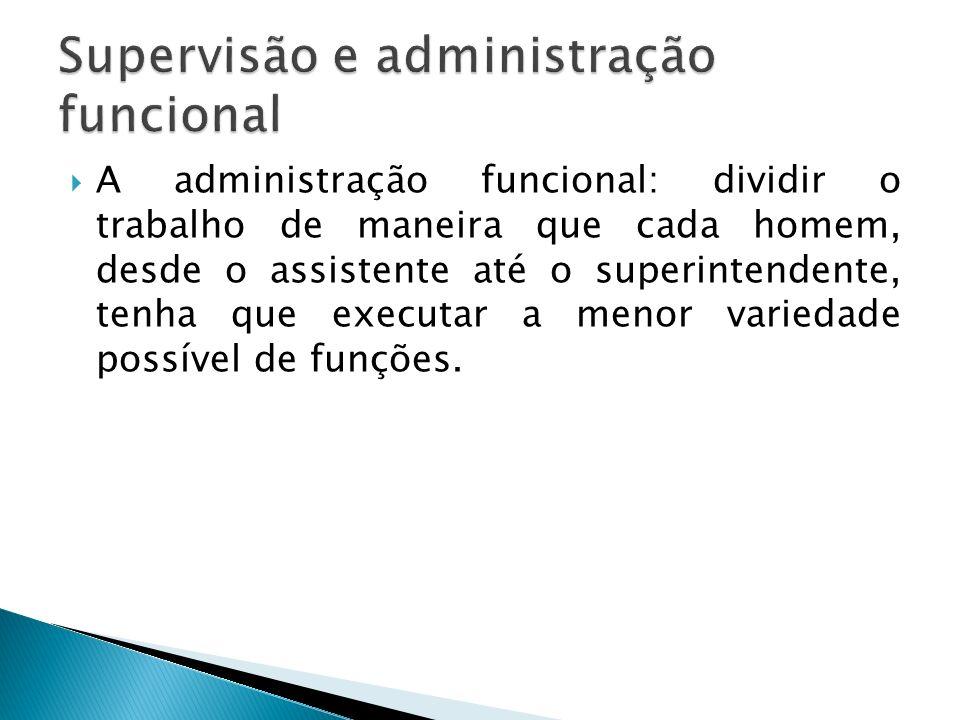 Supervisão e administração funcional