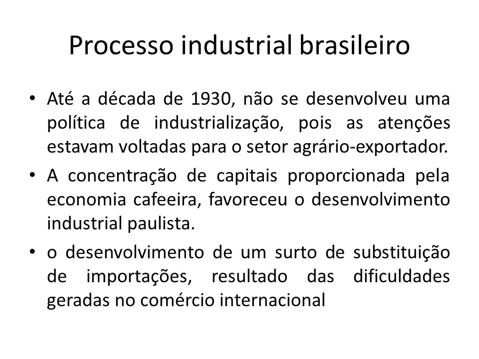 Processo industrial brasileiro