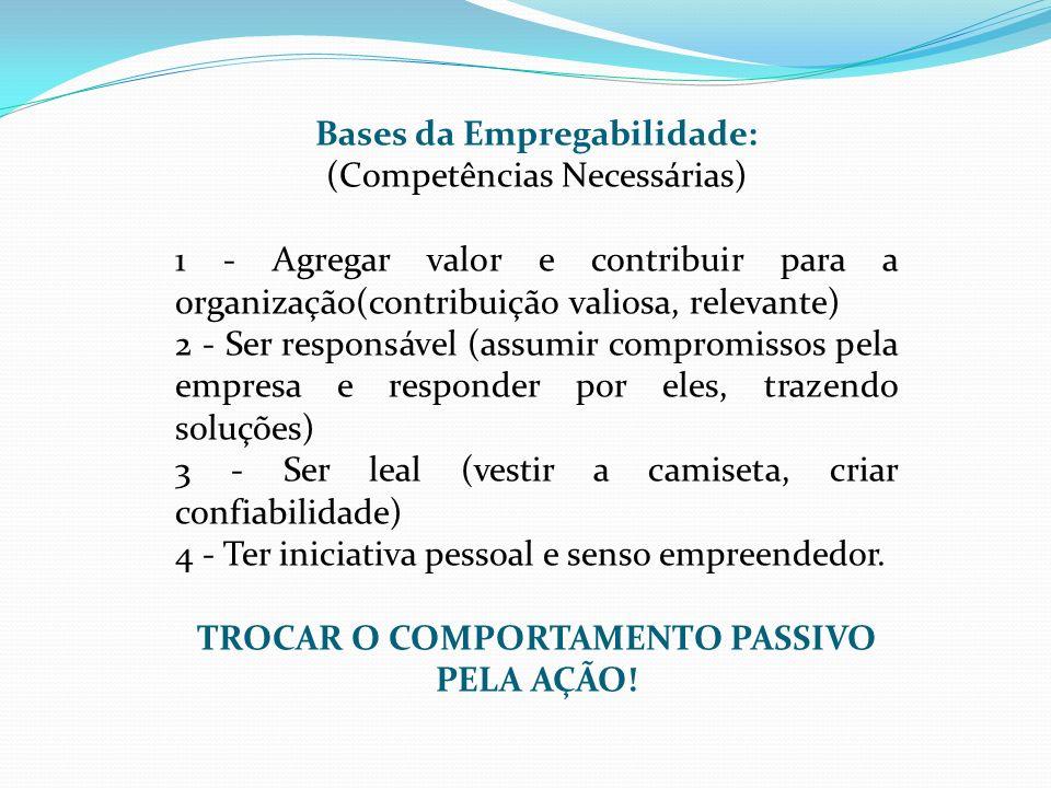 Bases da Empregabilidade: TROCAR O COMPORTAMENTO PASSIVO PELA AÇÃO!