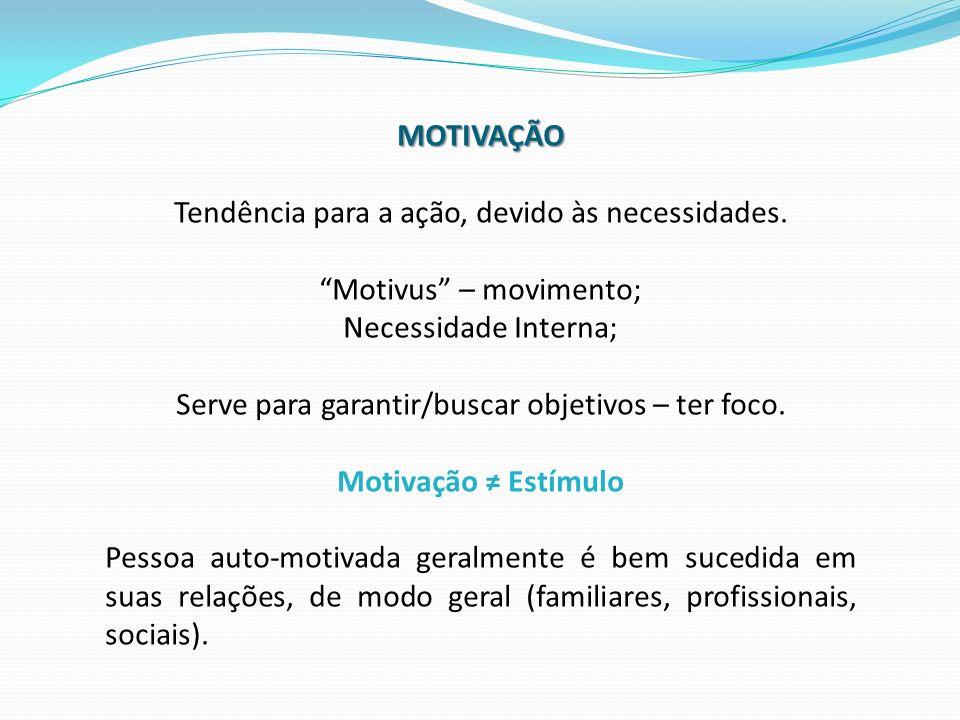 MOTIVAÇÃO Motivação ≠ Estímulo
