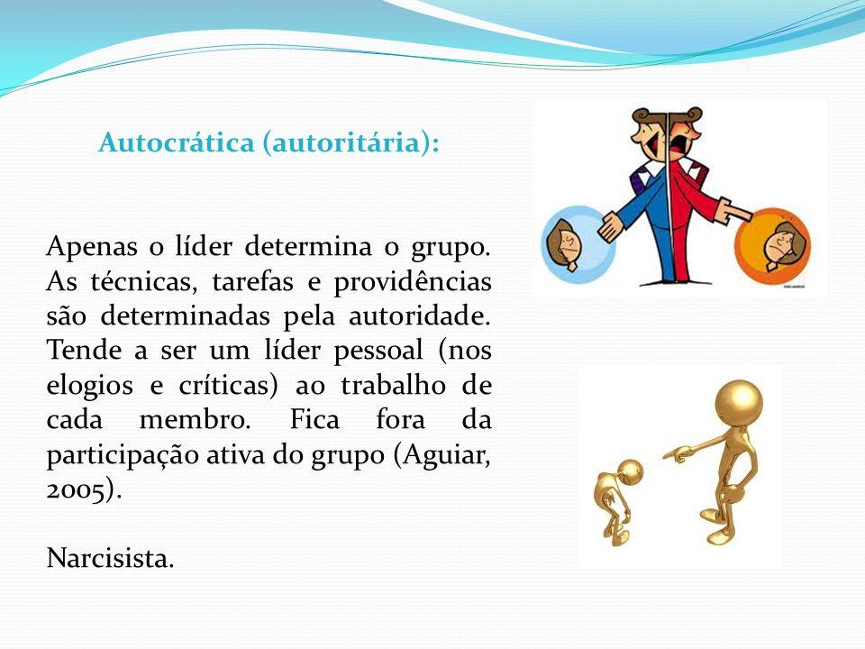 Autocrática (autoritária):