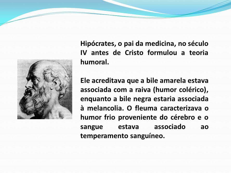 Hipócrates, o pai da medicina, no século IV antes de Cristo formulou a teoria humoral.
