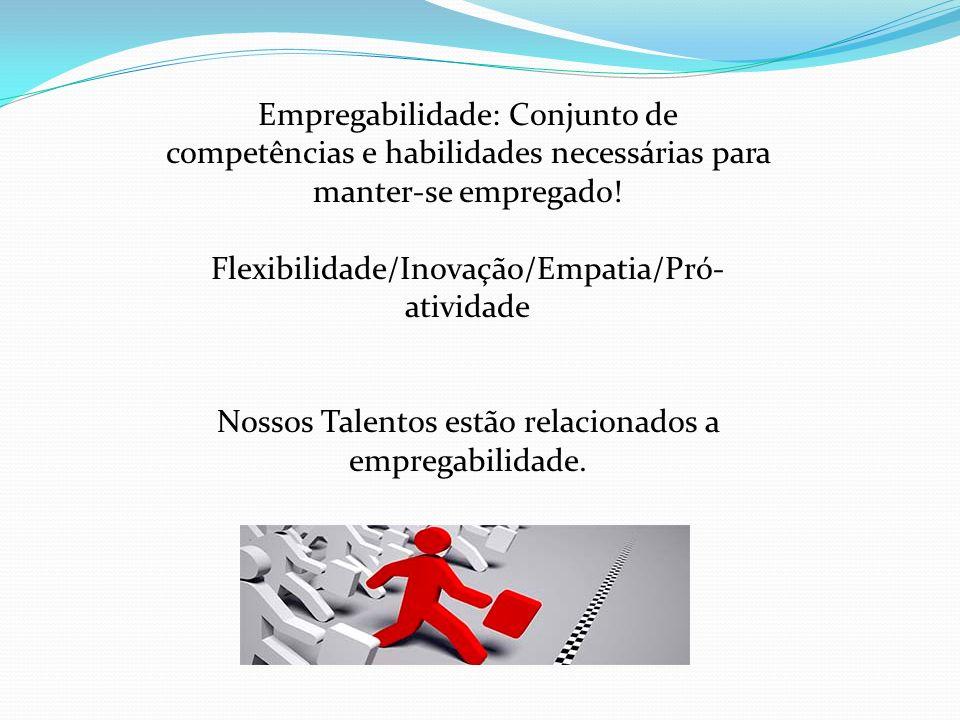 Flexibilidade/Inovação/Empatia/Pró-atividade