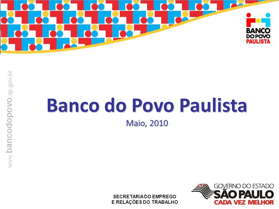 Banco do Povo Paulista Maio, 2010