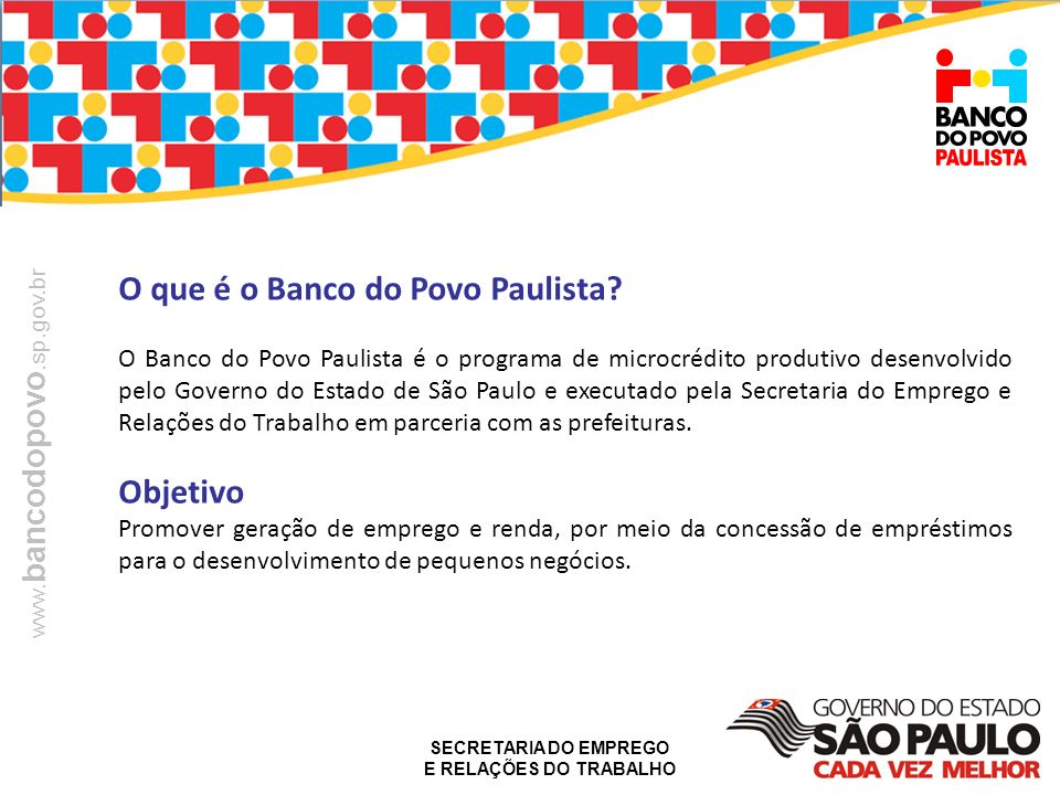 O que é o Banco do Povo Paulista