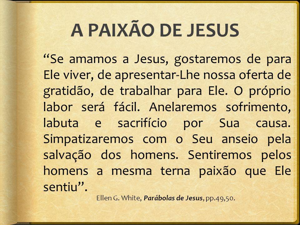 A PAIXÃO DE JESUS
