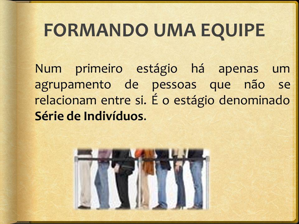 FORMANDO UMA EQUIPE