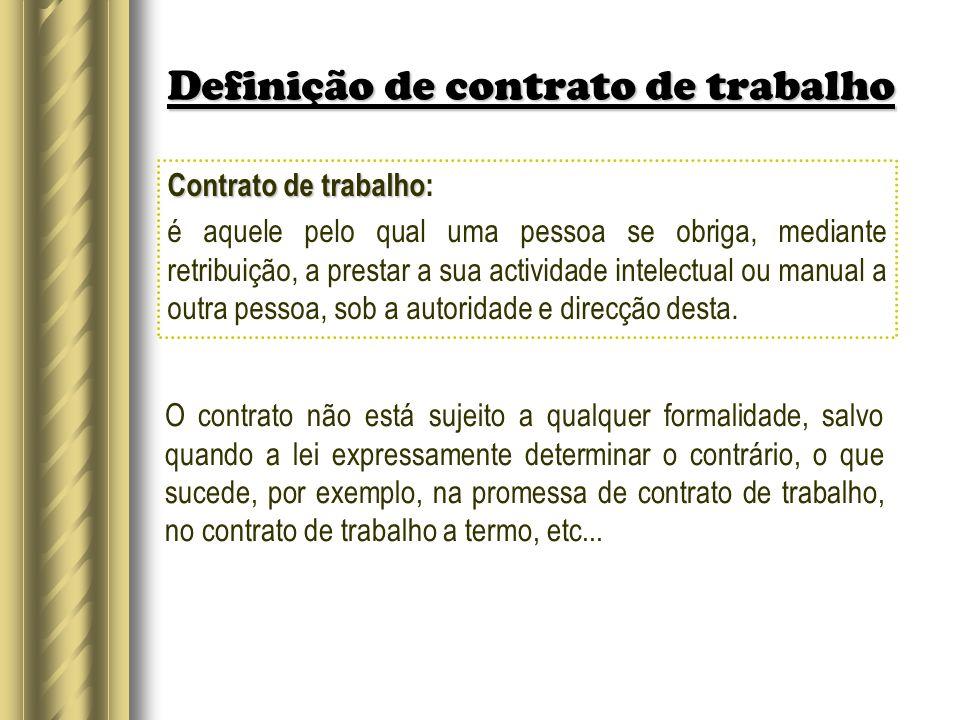 Definição de contrato de trabalho