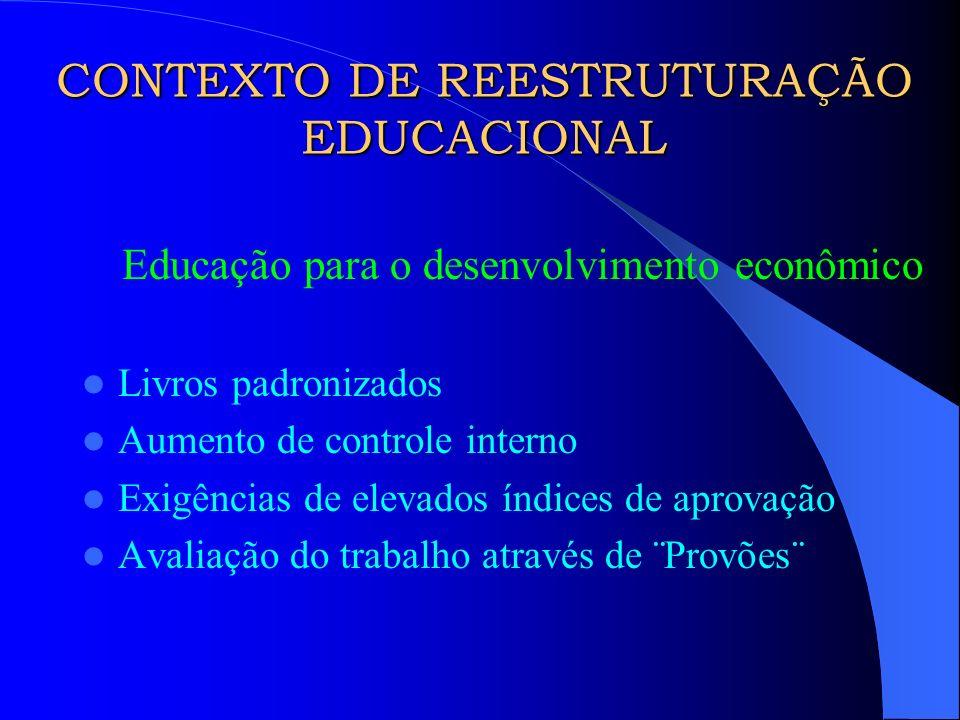 CONTEXTO DE REESTRUTURAÇÃO EDUCACIONAL