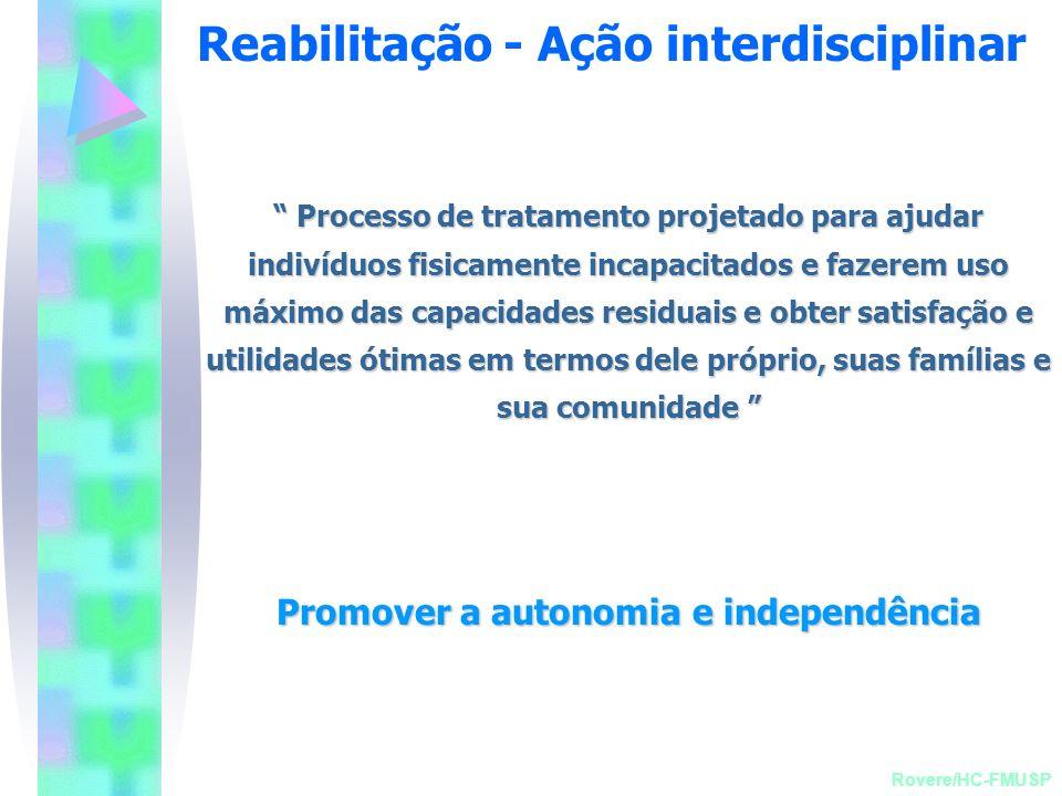 Reabilitação - Ação interdisciplinar