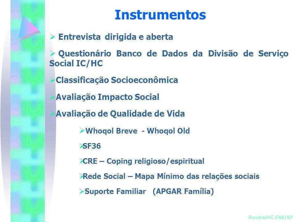 Instrumentos Entrevista dirigida e aberta