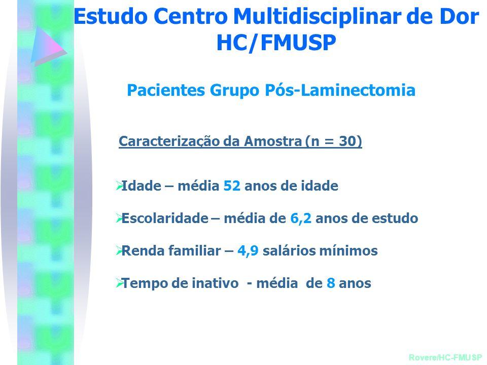 Estudo Centro Multidisciplinar de Dor HC/FMUSP