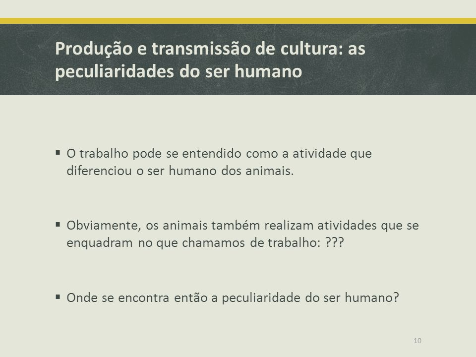 Produção e transmissão de cultura: as peculiaridades do ser humano