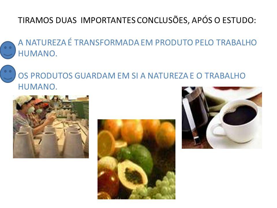 TIRAMOS DUAS IMPORTANTES CONCLUSÕES, APÓS O ESTUDO:
