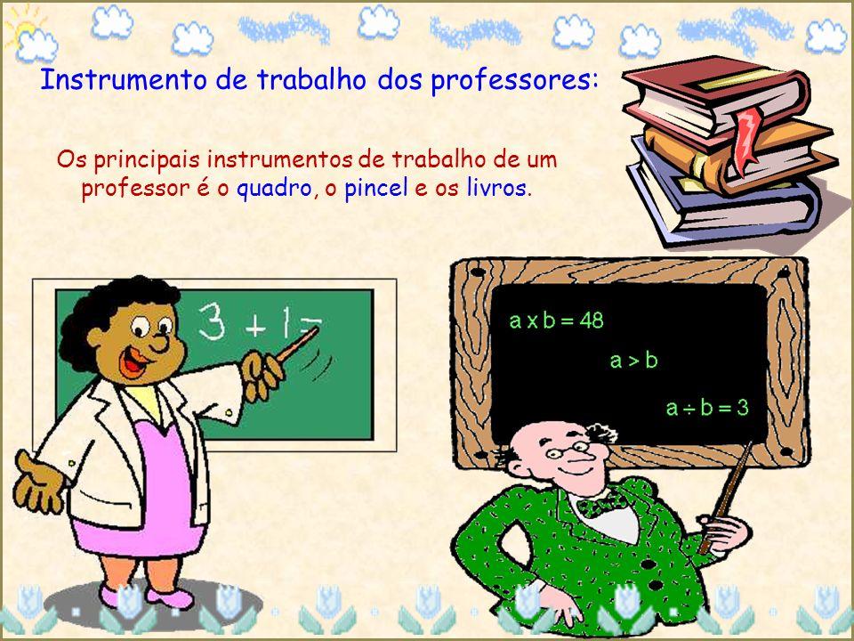 Instrumento de trabalho dos professores: