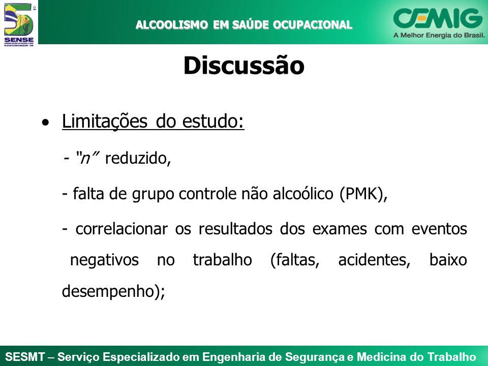 ALCOOLISMO EM SAÚDE OCUPACIONAL Discussão