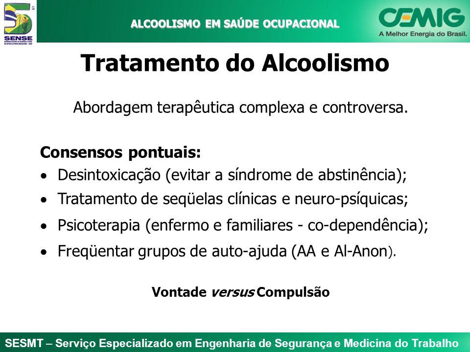 ALCOOLISMO EM SAÚDE OCUPACIONAL Tratamento do Alcoolismo