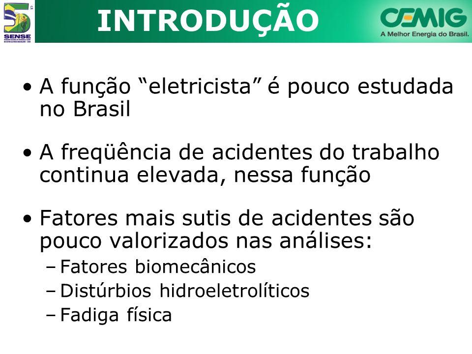 INTRODUÇÃO A função eletricista é pouco estudada no Brasil