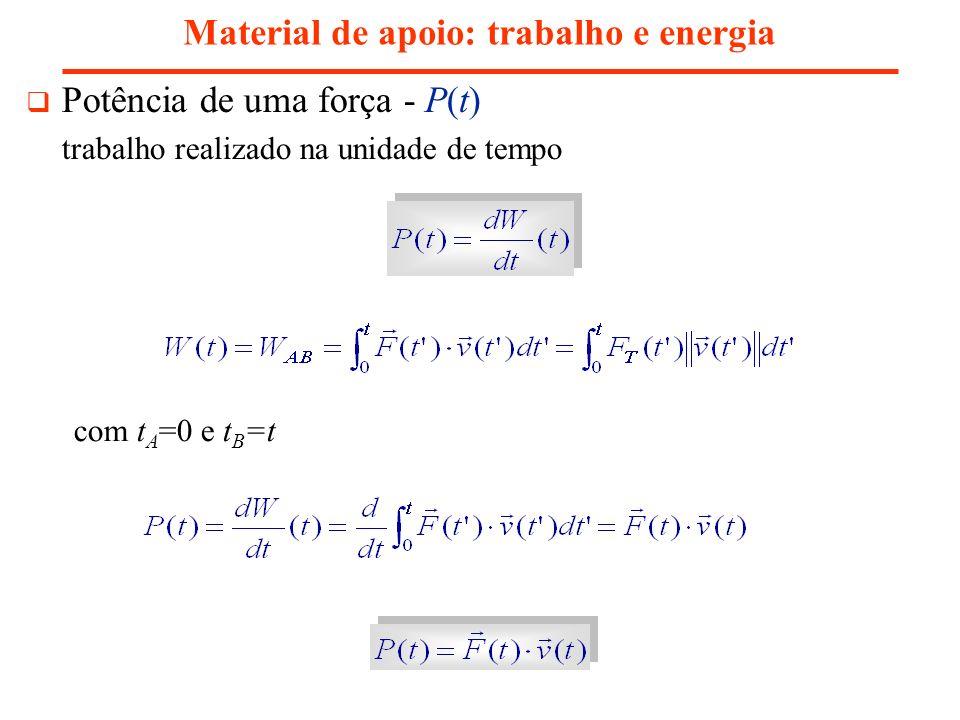 Material de apoio: trabalho e energia