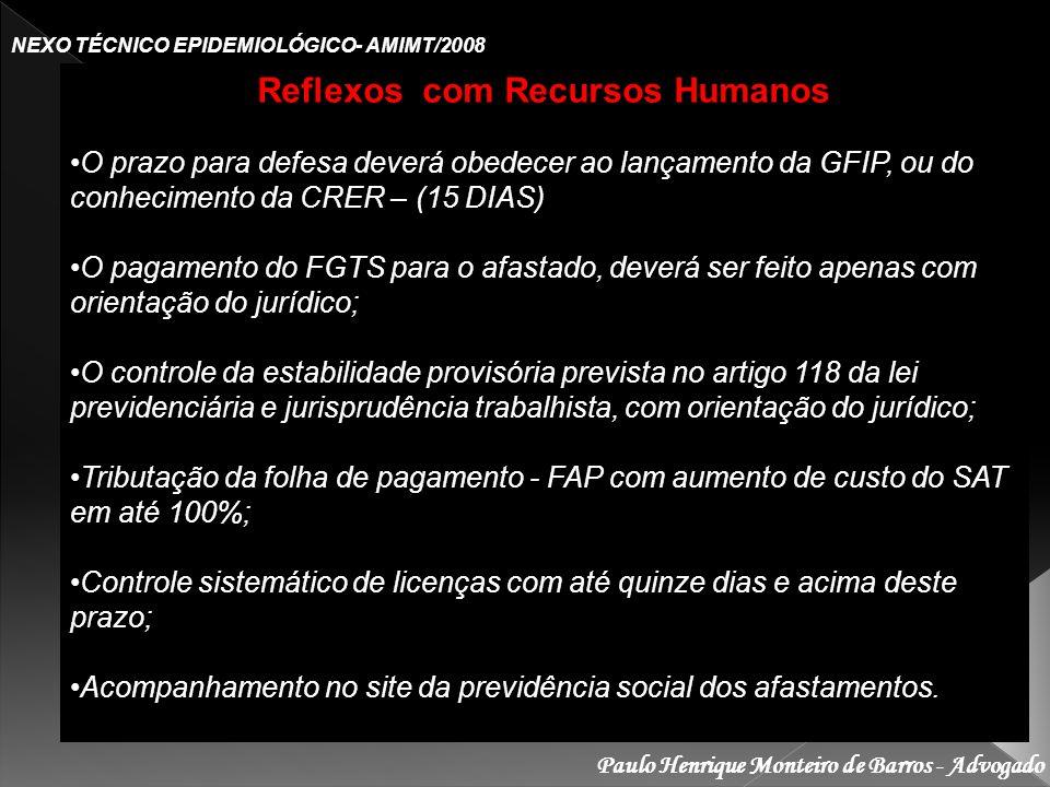 Reflexos com Recursos Humanos