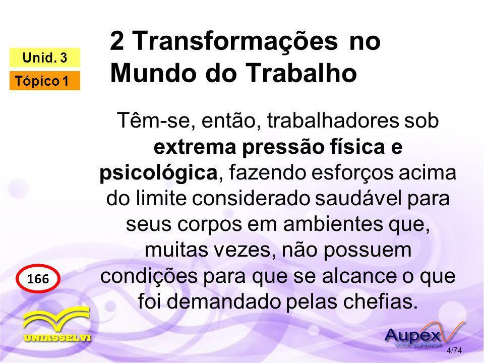 2 Transformações no Mundo do Trabalho