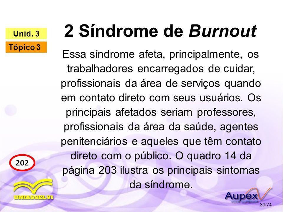 2 Síndrome de Burnout Unid. 3. Tópico 3.