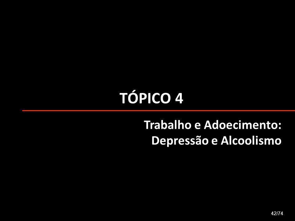 TÓPICO 4 Trabalho e Adoecimento: Depressão e Alcoolismo 42/74