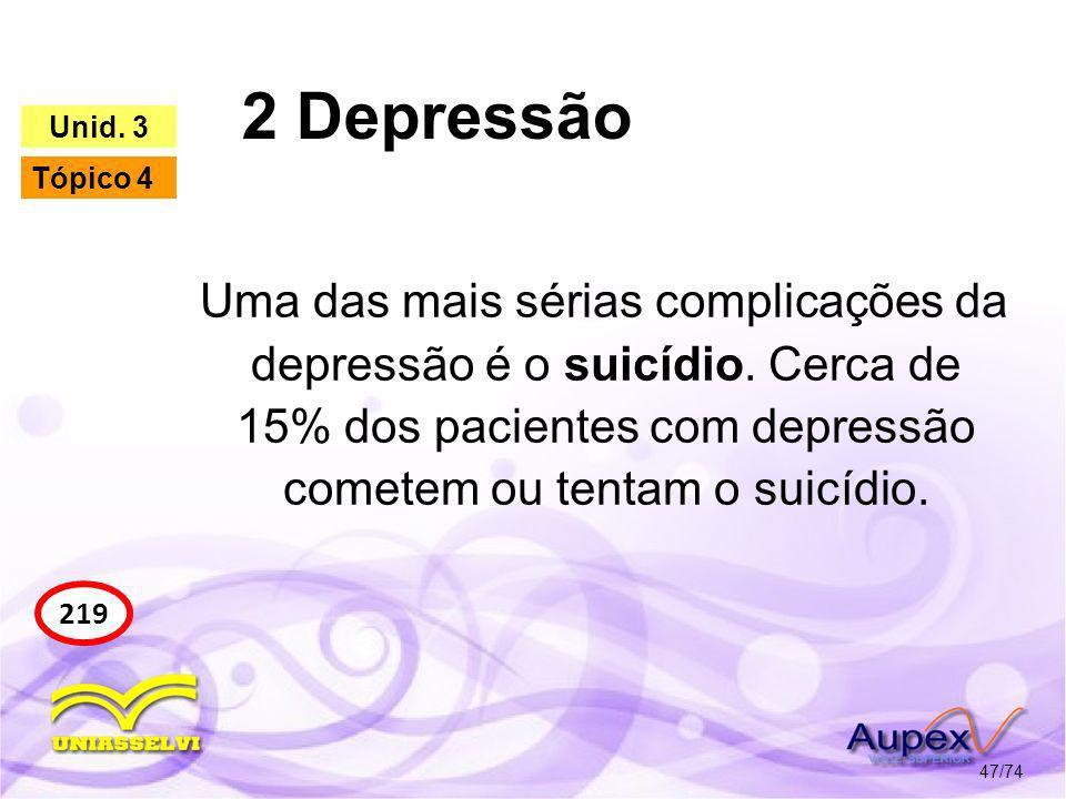 2 Depressão Unid. 3. Tópico 4.
