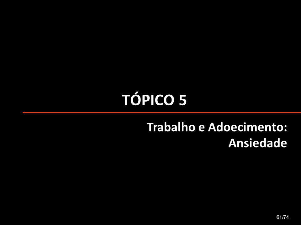 TÓPICO 5 Trabalho e Adoecimento: Ansiedade 61/74