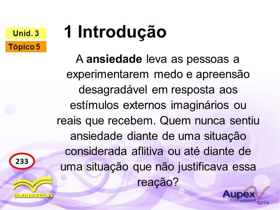 1 Introdução Unid. 3. Tópico 5.