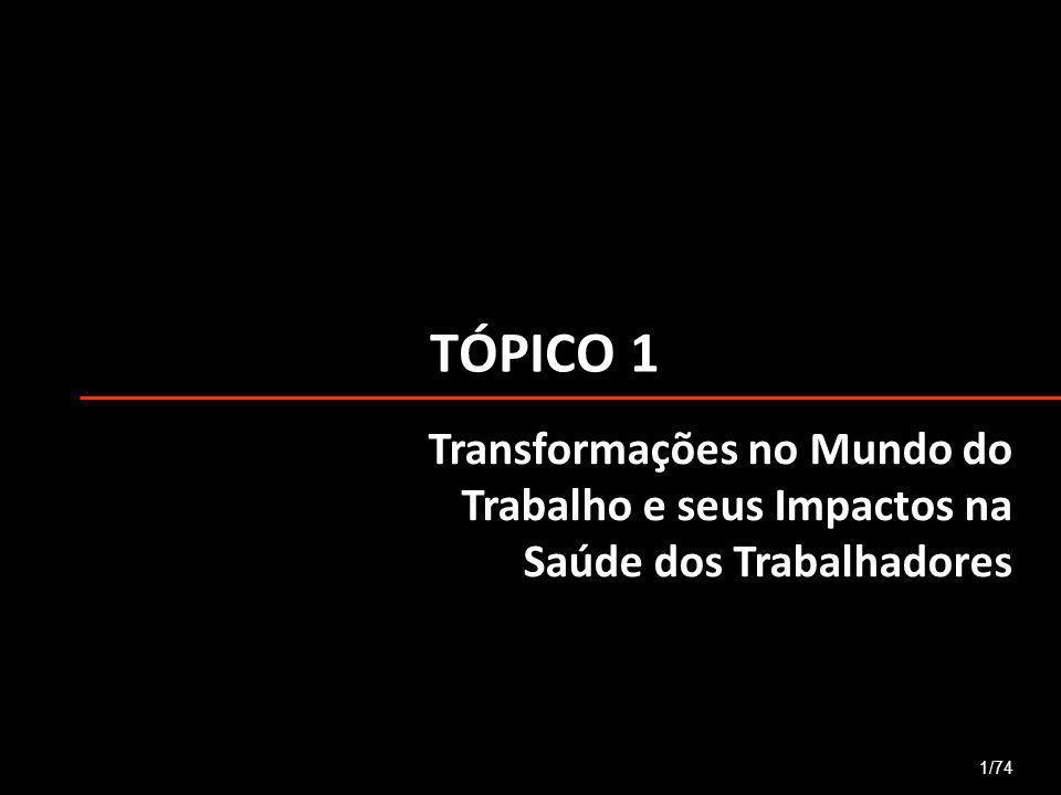 TÓPICO 1 Transformações no Mundo do Trabalho e seus Impactos na Saúde dos Trabalhadores 1/74