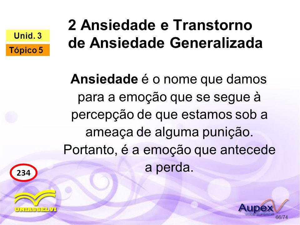 2 Ansiedade e Transtorno de Ansiedade Generalizada