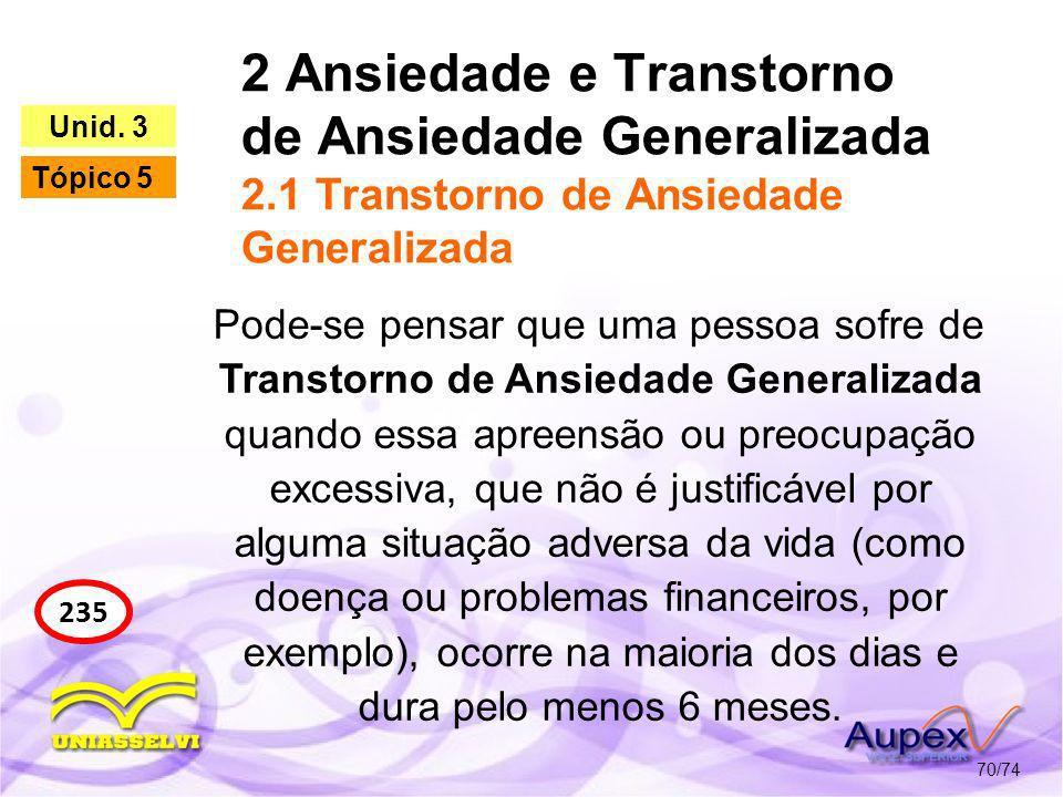 2 Ansiedade e Transtorno de Ansiedade Generalizada 2